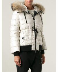 Moncler Natural Fur Hood Padded Jacket