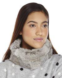 Surell - Gray Real Rabbit Fur Headband - Lyst