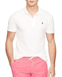 Polo Ralph Lauren | White Featherweight Polo Shirt for Men | Lyst