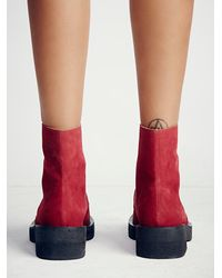 Free People | Red Faryl Robin X Womens Vegan Billy Ankle Boot | Lyst