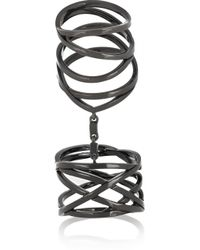 Repossi | White Noise 18-Karat Black Gold-Washed Ring | Lyst