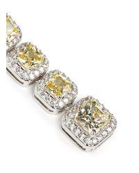 CZ by Kenneth Jay Lane | Yellow Princess Cut Cubic Zirconia Drop Earrings | Lyst