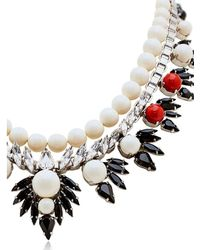 Ellen Conde | White Dipped In Rhodium Necklace | Lyst