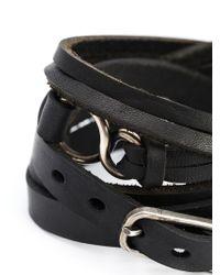 Werkstatt:münchen | Black Multi Strap Buckle Bracelet | Lyst