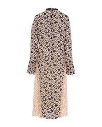 Marni Black Floral Print Midi Dress