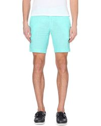 Ralph Lauren | Blue Straight-fit Linen Shorts for Men | Lyst