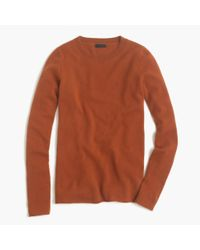 J.Crew | Brown Italian Cashmere Long-sleeve T-shirt | Lyst