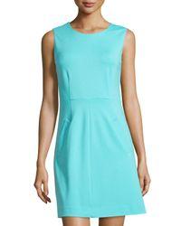 Diane von Furstenberg - Blue Capreena Sleeveless A-line Ponte Mini Dress - Lyst