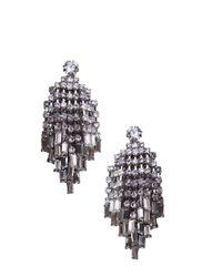 AKIRA | Chandelier Earrings in Black | Lyst