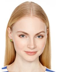 kate spade new york - Green Lawn Party Snail Studs - Lyst