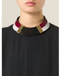 Marni | Red Choker Necklace | Lyst