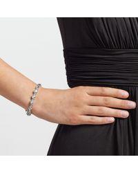 John Lewis Metallic Glass Crystal Tennis Bracelet