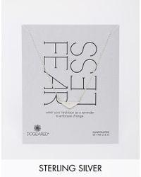 Dogeared   Metallic Sterling Silver Fear Less Peak Shield Necklace   Lyst