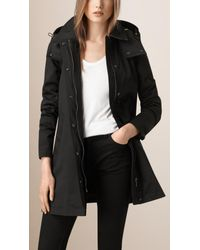 Burberry | Black Showerproof Car Coat With Removable Warmer | Lyst