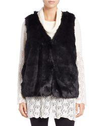 Lord & Taylor Black Faux Fur Vest