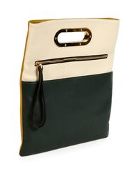 Marni - Yellow Fold-over Tricolor Crossbody - Lyst