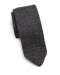 Armani   Gray Wool Knit Tie for Men   Lyst