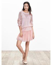 Banana Republic | Pink Shirred Drop-waist Skirt | Lyst