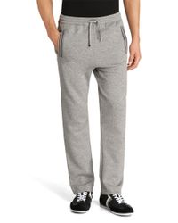 BOSS Green Gray Regular-fit Jogging Trousers 'hadim' In Cotton Blend for men
