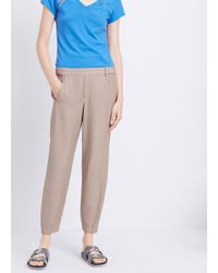 Vince - Natural Wrap Seam Twill Jogger - Lyst