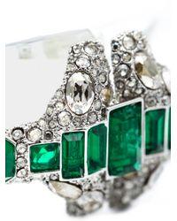 Alexis Bittar - Green Crystal Deco Emerald Stacked Bracelet - Lyst