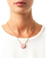 Irene Neuwirth - Diamond, Pink-Opal & Gold Necklace - Lyst