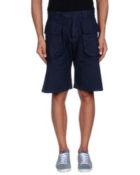 DSquared² - Blue Bermuda Shorts for Men - Lyst