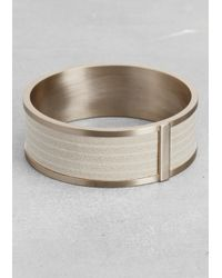 & Other Stories | White Leather and Brass Bangle | Lyst
