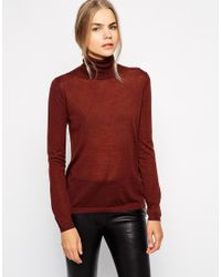 SELECTED - Red Costa Poloneck Jumper - Lyst