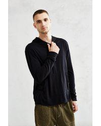 Jungmaven | Black Light Hooded Top for Men | Lyst