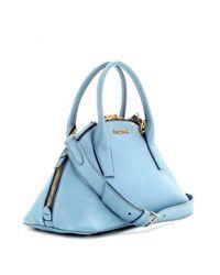 Miu Miu Blue Small Leather Tote