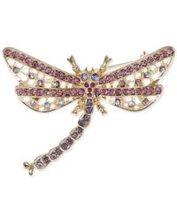 Jones New York | Pink Gold-Tone Multicolor Dragonfly Pin | Lyst