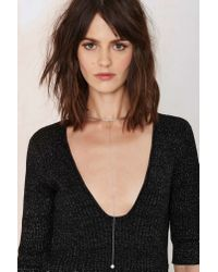 Nasty Gal | Metallic Let's Hang Out Collar Necklace | Lyst