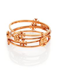 Tory Burch | Metallic Logo Bangle Set | Lyst