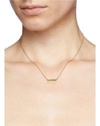 Ila & I | Metallic 'saffron' Diamond Necklace | Lyst