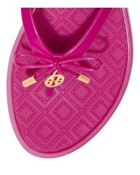 Tory Burch - Purple Jelly Bow Thong Sandal - Lyst