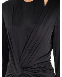 Alexander Wang Black Twist-Front Long-Sleeved Dress