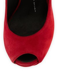 Giuseppe Zanotti - Red Heel-Less Ankle-Strap Pump - Lyst