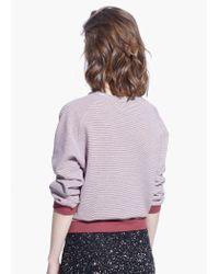 Mango Purple Message Plush Sweatshirt