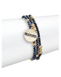 Cara - Metallic 'blessed' Beaded Bracelet Set - Lyst