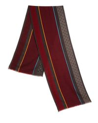 Paul Smith | Red Wool & Silk Blend Scarf for Men | Lyst