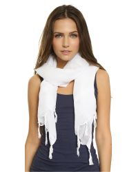 Love Quotes White Knotted Tassel Linen Scarf