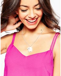 Tatty Devine | Metallic Polar Bear Necklace | Lyst