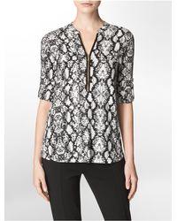 Calvin Klein | Black Short-sleeve T-shirt | Lyst