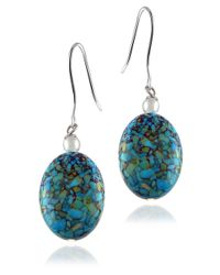 Lord & Taylor | Blue Turquoise Drop Earrings | Lyst