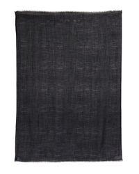 Fendi - Black Crocodile-Woven Wool, Silk And Cashmere Scarf for Men - Lyst