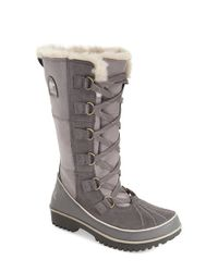 Sorel Black Tivoli High Ii Suede Boots With Faux Fur