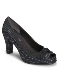 Aerosoles | Black Benefit Peep-Toe Pumps | Lyst