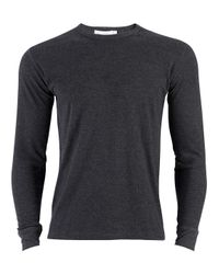 Sunspel | Gray Men's Long Sleeve Thermal T-shirt | Lyst