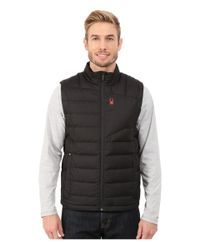 Spyder - Black Dolomite Down Vest for Men - Lyst
